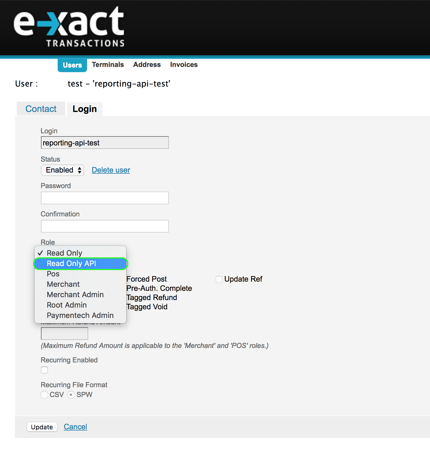 Transaction Search and Reporting API – E-xact HELP DESK